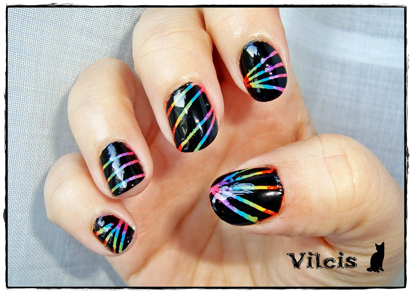 Vilcis nail designs: Desafío 31 días - Día 9 - Uñas arcoíris