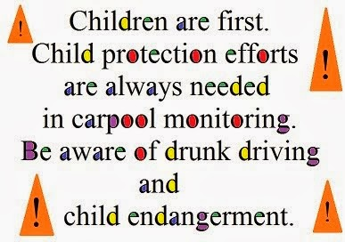 Children are first. Child protection efforts in carpool monitoring.
