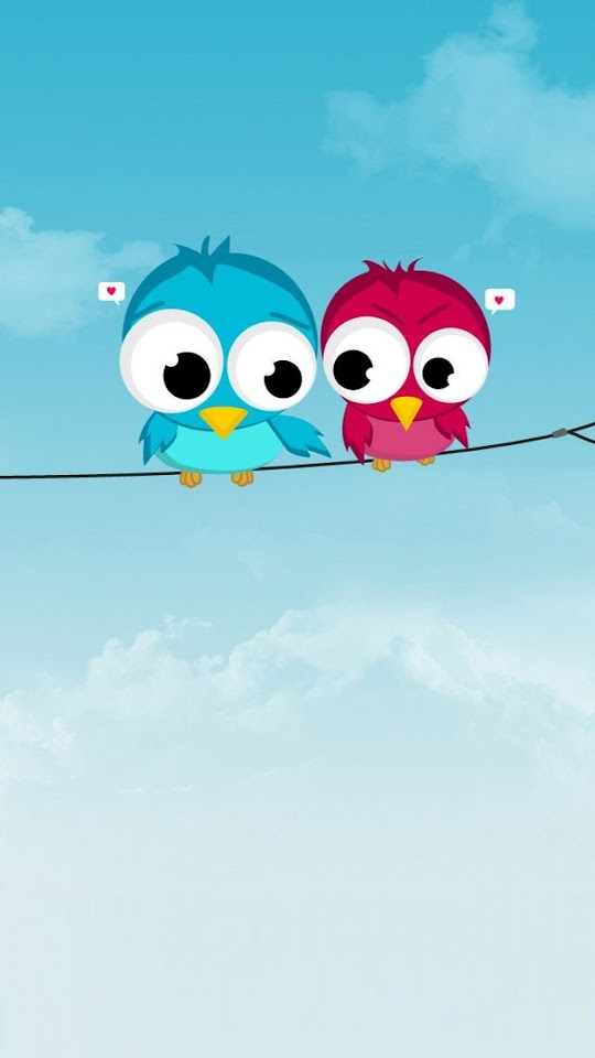 Cute Twitter Birds  Galaxy Note HD Wallpaper