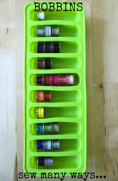 Sew Many Ways Tool Time TuesdayIce Cube Tray Organizer