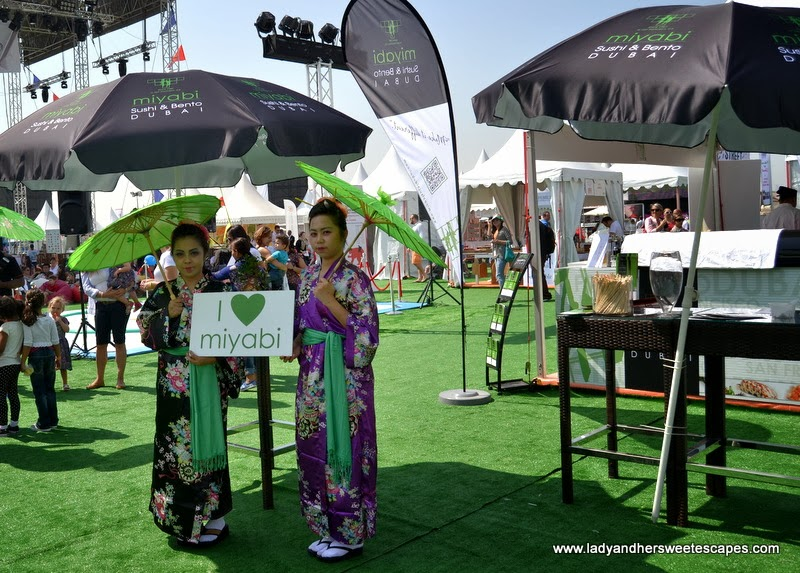 Miyabi Sushi and Bento at the Dubai Food Carnival