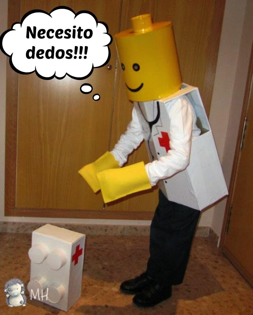 Lego médico para disfraz