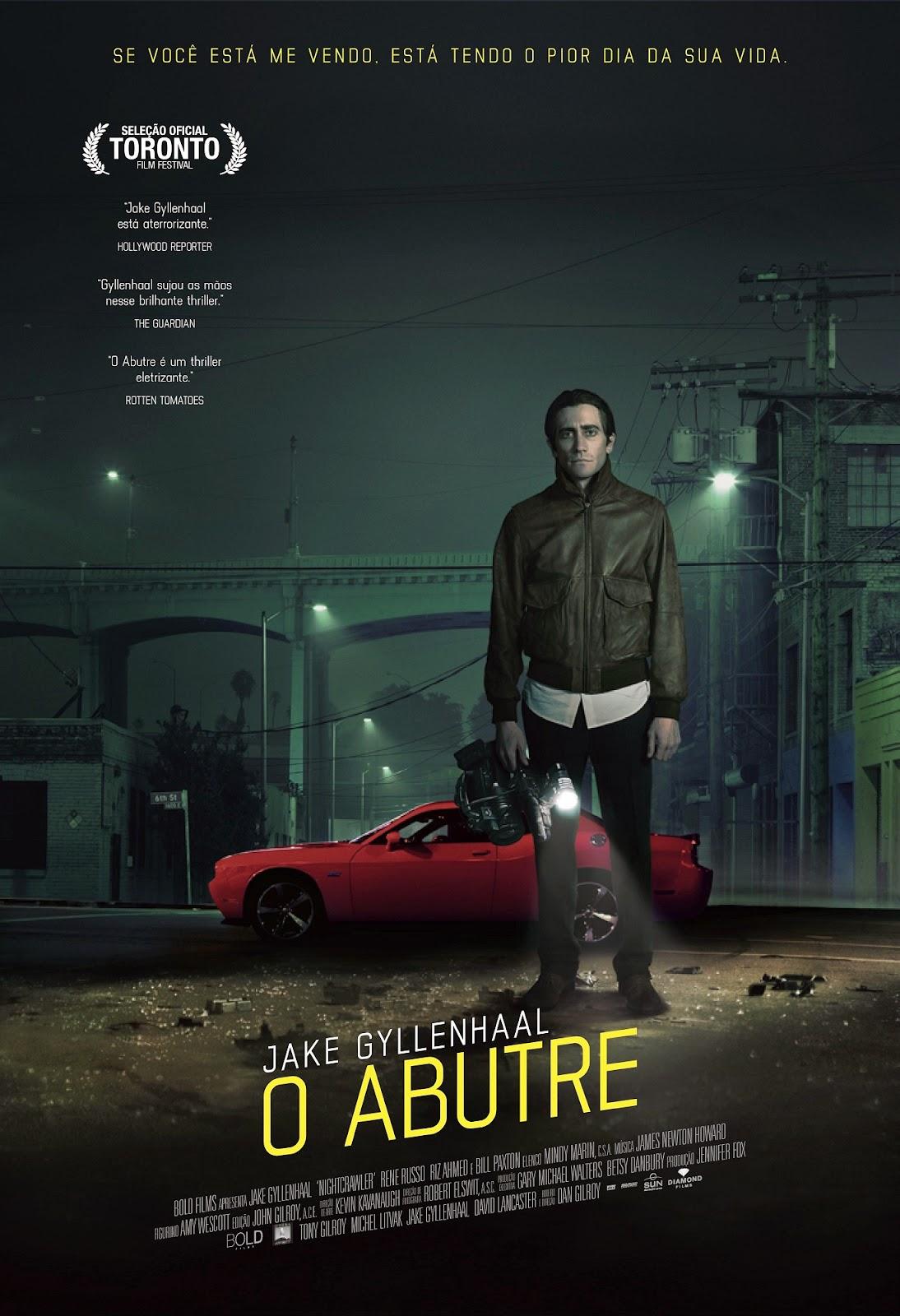 Pôster/capa/cartaz nacional de O ABUTRE (Nightcrawler)