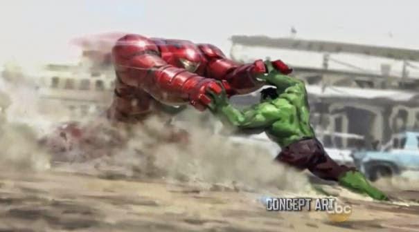 Hulkbuster vs. Hulk Concept Art BeritaSuperhero.Com