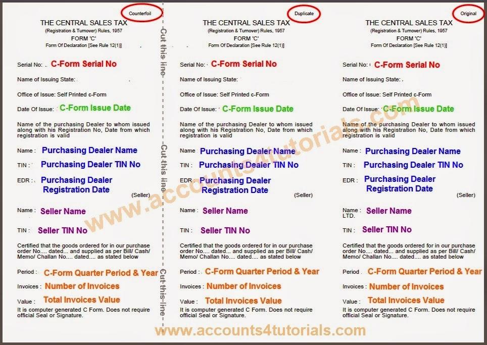 Generate C-Form (Telangana Sales Tax) - Accounting & Taxation