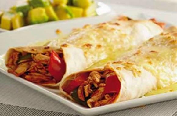Burritos Gratinados De Pollo