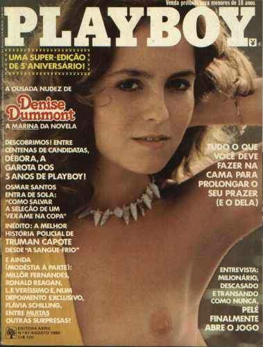 Confira as fotos da atriz Denise Dummont, capa da Playboy especial de 5º aniversário, agosto de 1980!
