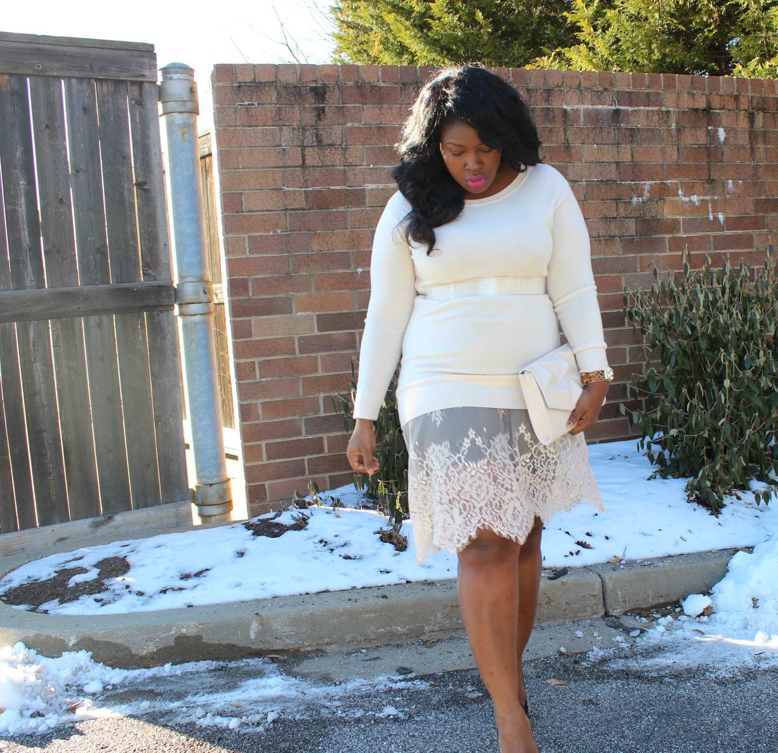 forever 21, sweater, lace, dress