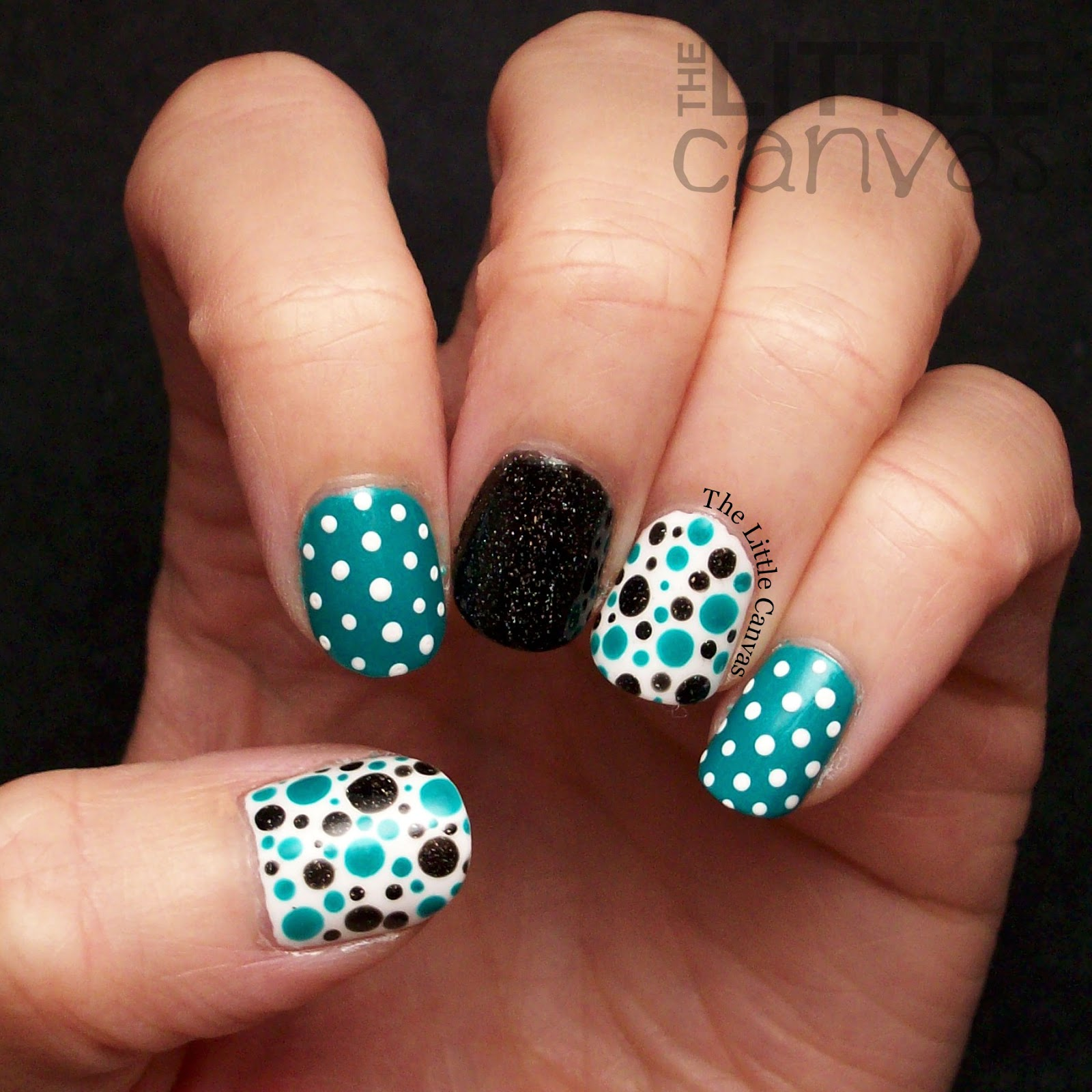 Awareness For Ovarian Cancer My Teal Manicure I Really Wasn T Sure What To Do So Went With Polka Dots You Can Never Go Wrong