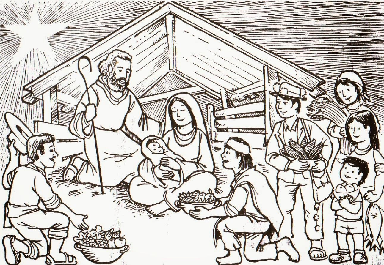 Imagenes cristianas para colorear dibujos para colorear - Dibujos para pintar navidad ...