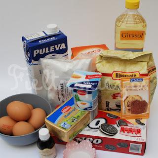 ingredientes cupcakes de ore y buttercream de vainilla