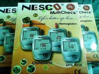 Alat |METER GULA,ASAM URAT,&CHOLESTEROL |NESCO multicheck 3in1