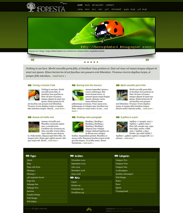 Foresta WordPress Theme