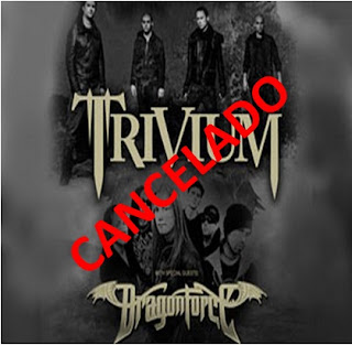 TRivium DRagonforce Venezuela Cancelado