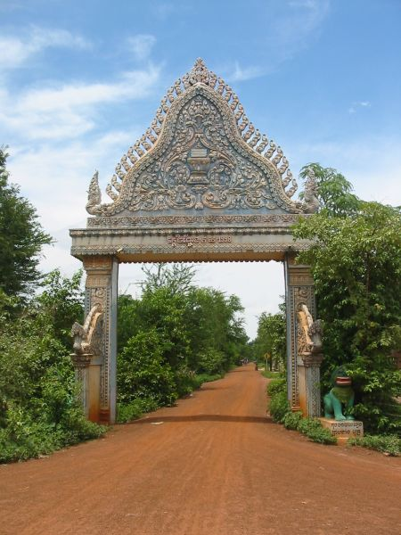 Khmer pagoda gate way style khmer architectural for Architecture khmer