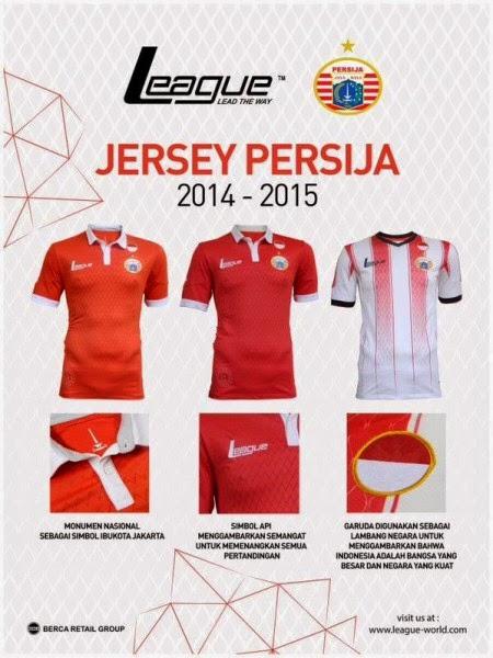 Jersey Persija Terbaru untuk ISL 2015