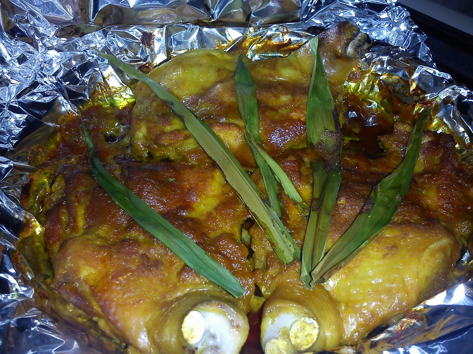 Cooking Pleasure: BAKED PANDAN CHICKEN