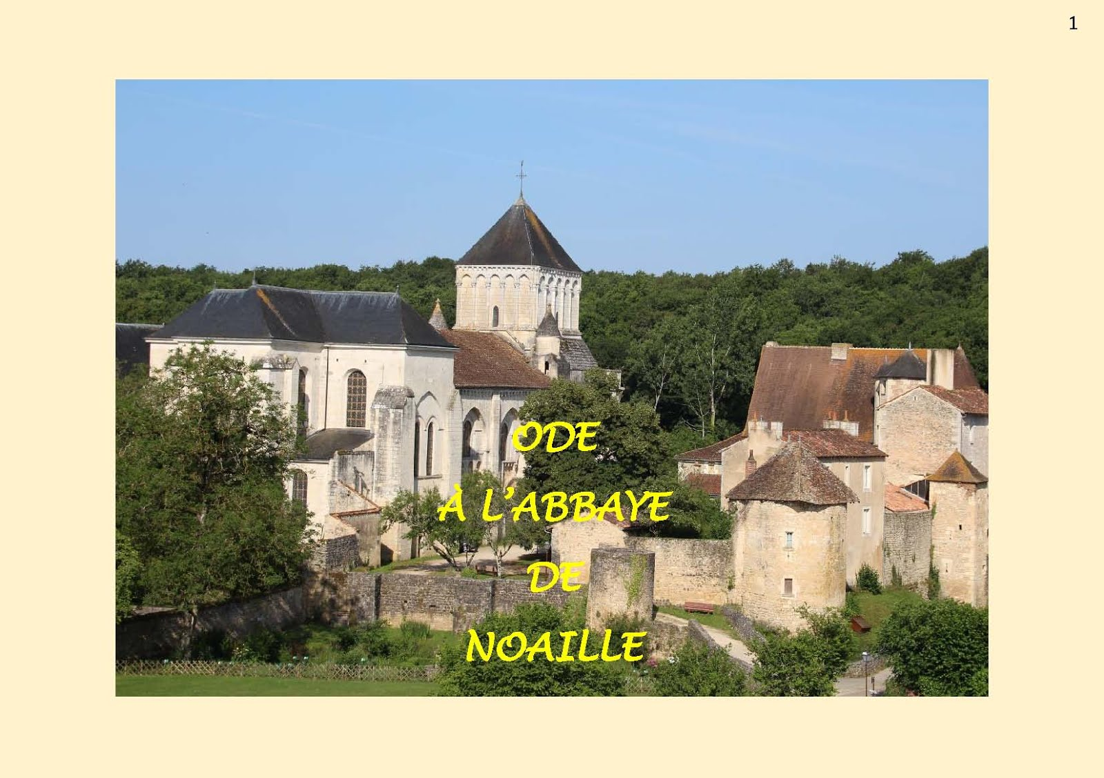 Ode à l'abbaye de Noaille
