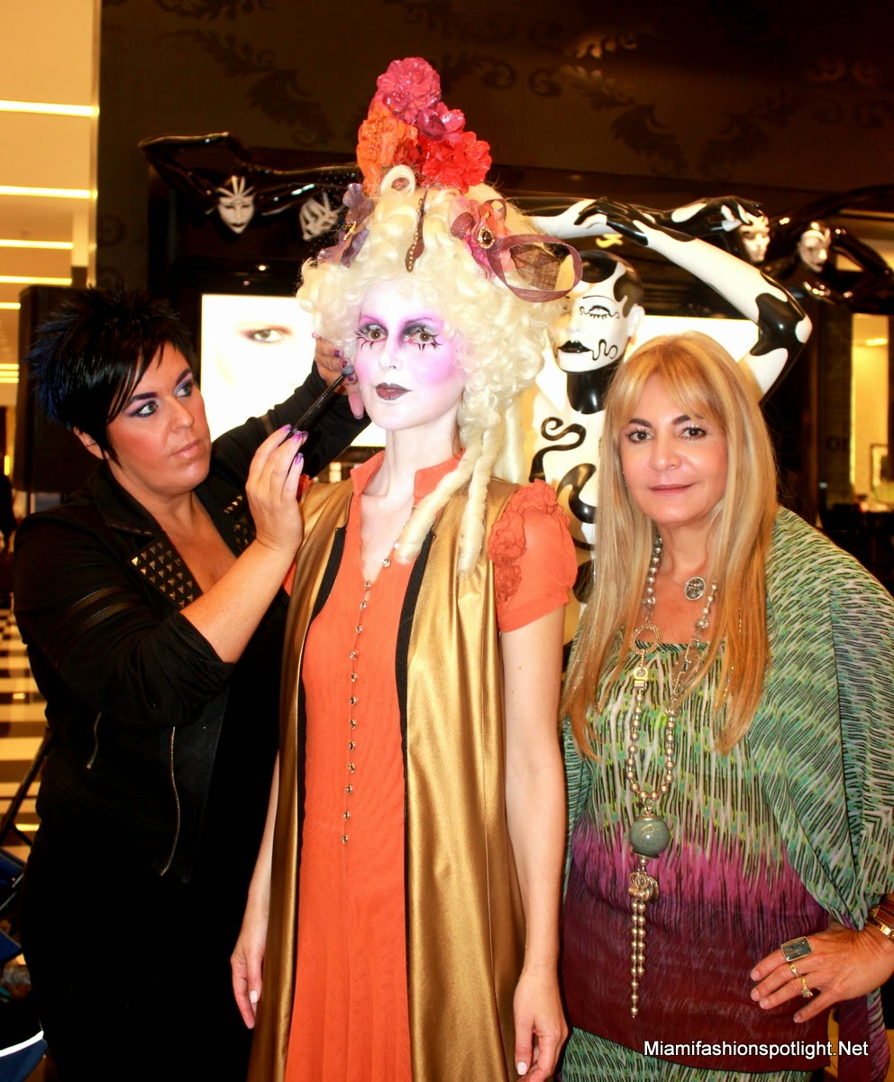 Viviana Gabeiras, Nikki Oxley and Athina Klioumi Teamed up for Illamasqua's make-up class at Bloomingdales