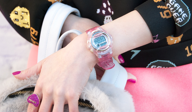 Baby-G watch, pink, 90s watch