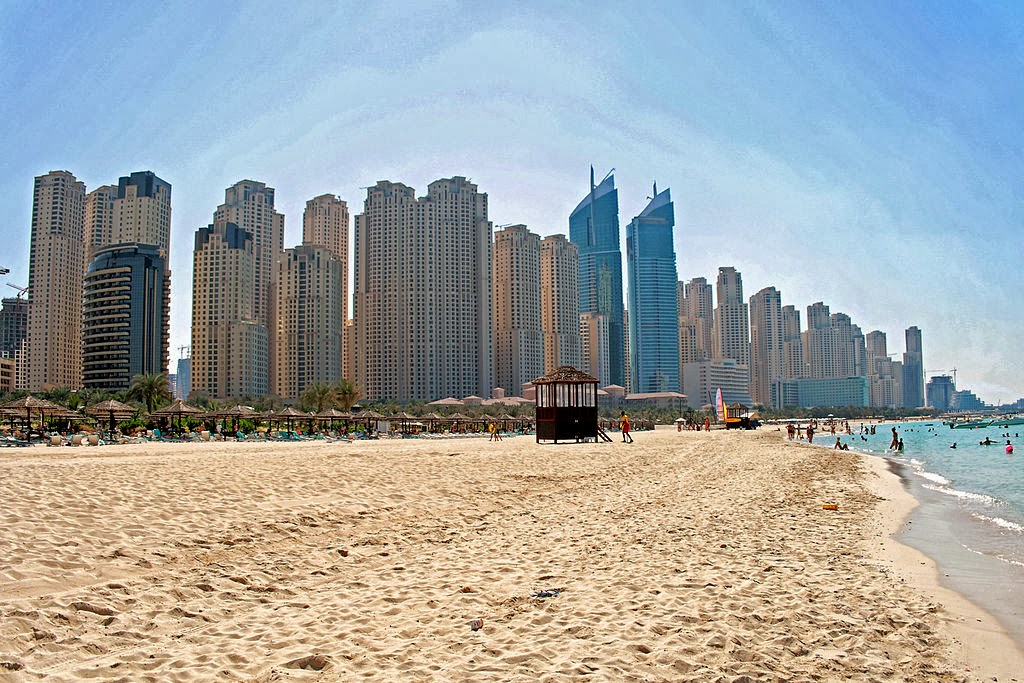 Free beach in Dubai