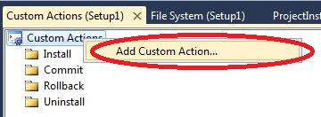 add custom action in wcf