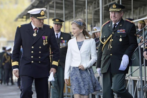 King Philippe of Belgium, Queen Mathilde of Belgium and Princess Elisabeth, Duchess of Brabant, attended the ship launching ceremony of the P902 Pollux ship with the Duchess of Brabant as official godmother, at the Zeebrugge naval base
