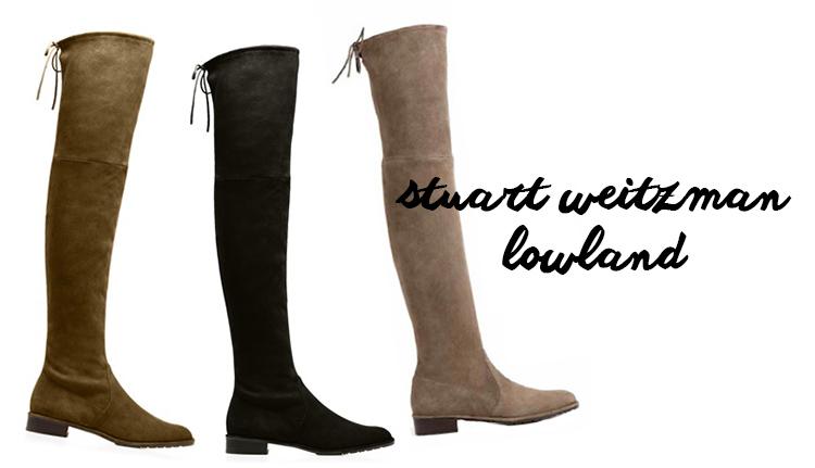 Stuart Weitzman Lowland boots, Stuart Weitzman Over the Knee Boots,