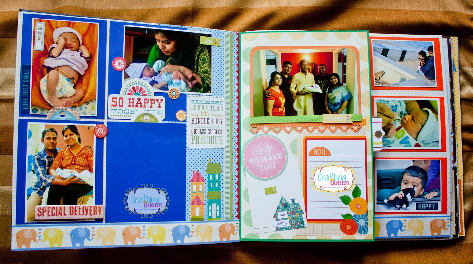 Baby journal scrapbook ideas - The Whole Family Who Matters Baby S First