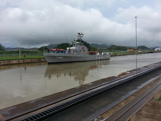 A U.S. Coast Guard Cutter was refurbished as a patrol boat in Panama.
