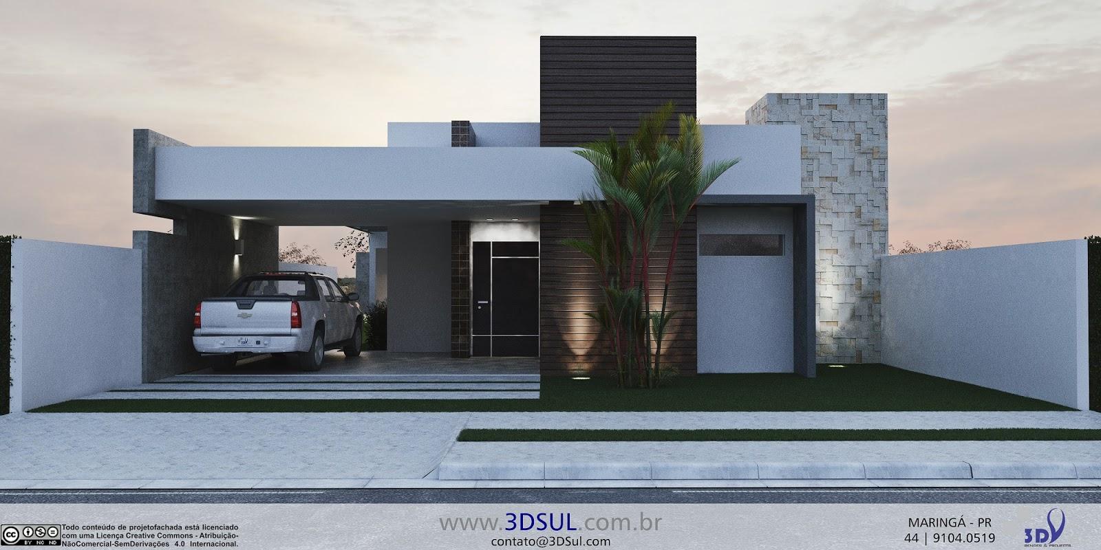 3dsul maquete eletr nica 3d for Casa moderna 8