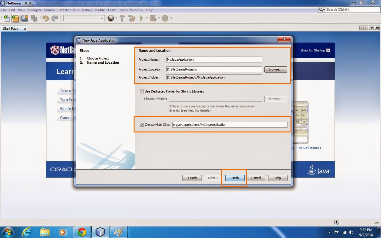 Java web development how to create and run a helloworld java se how to create and run java se application project using netbeans ide java application development baditri Images