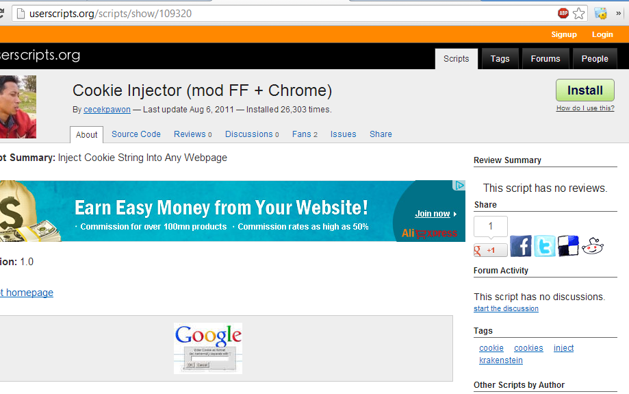 Download cookie injector for chrome