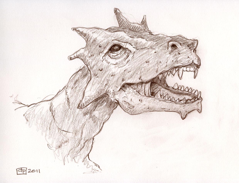 Les dessins de daniel t te de dragon a dragon head - Dessin de tete de dragon ...