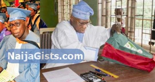 obasanjo master degree christian study