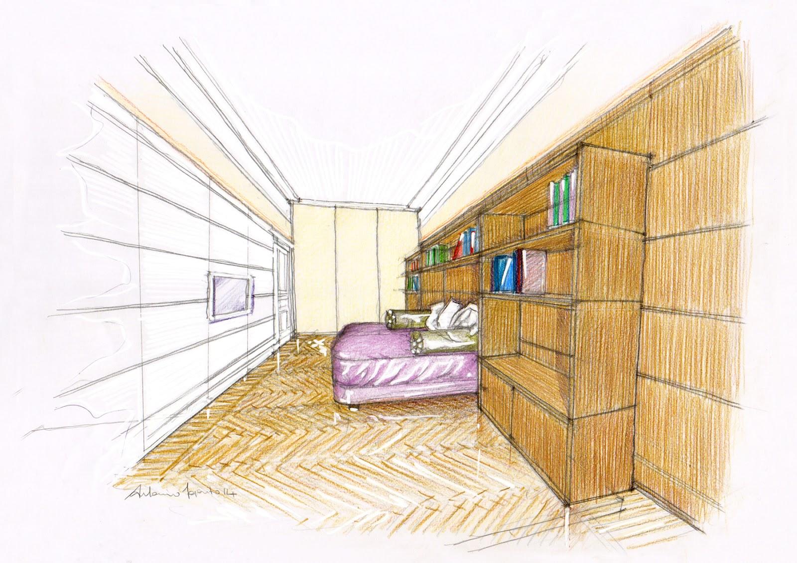 Vent 39 anni di disegni dell 39 arch antonio saporito arredo for Disegni di case in prospettiva