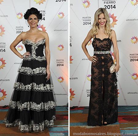 Vestidos de Jorge Ibañez, Looks Martin Fierro Flor de la V y Luisana Lopilato.