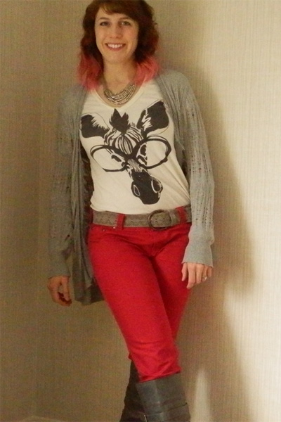 More Charming in Person: Red Pants Holiday