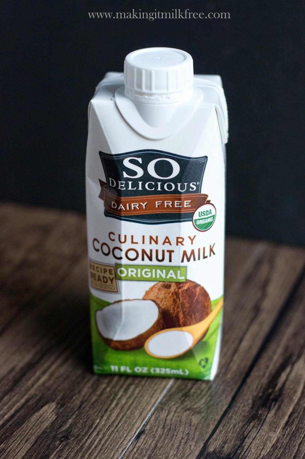 #dairyfree #vegan #glutenfree #allergyfriendly #coconutmilk #sodelicious
