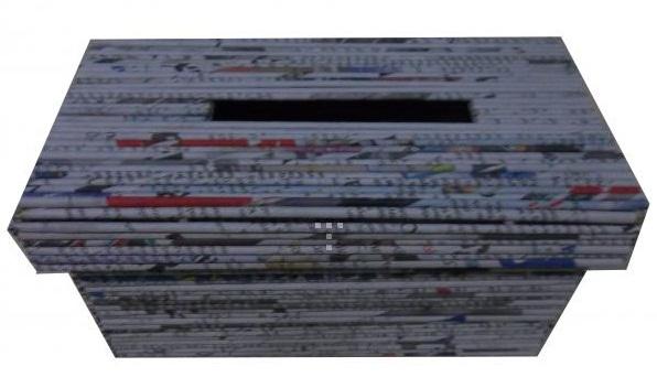 Gambar tempat tissu cantik dari koran bekas