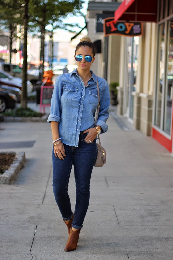 Denim on Denim with Ankle Boots
