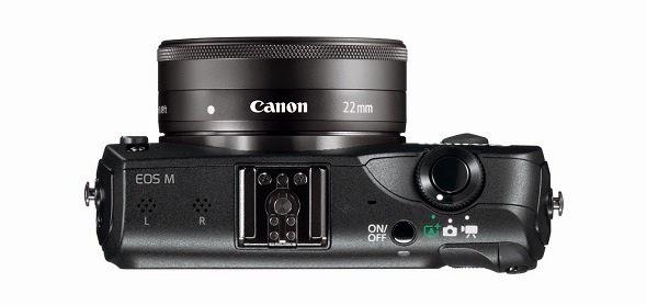 Fotografia della Canon EOS M dall'alto