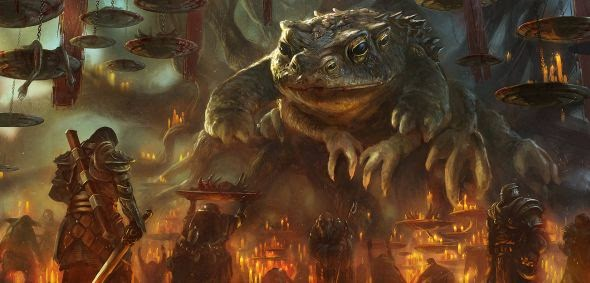 Grosnez deviantart illustrations fantasy science fiction Swamp's lord