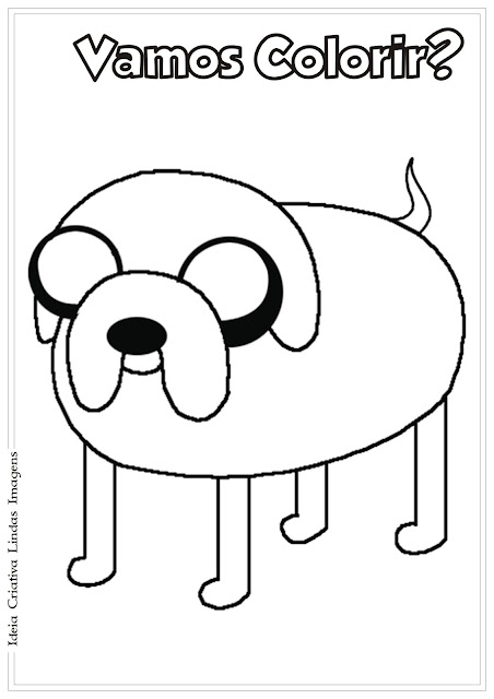 Desenho Jake Hora de Aventura para colorir