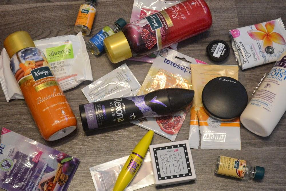 Gesamtbild der aufgebrauchten Produkte