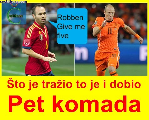 robben give me five