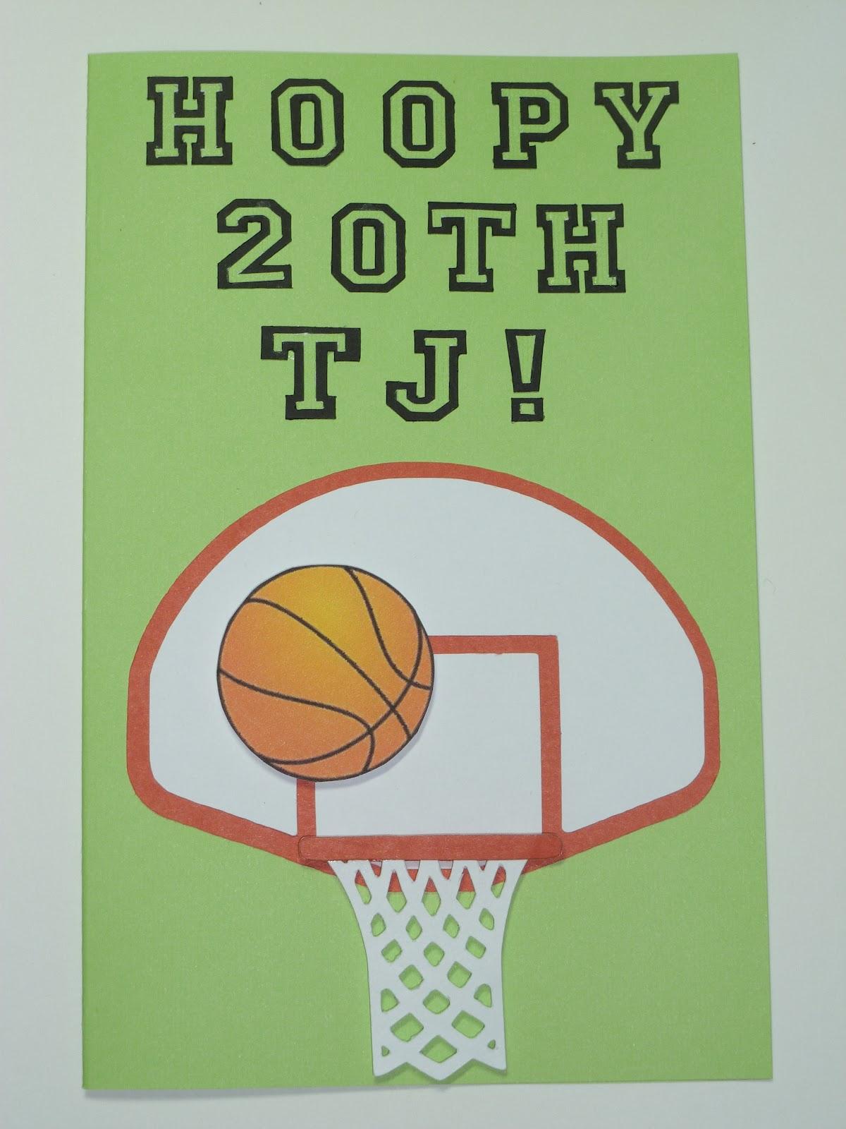 silly bean's idea space basketball birthday card, Birthday card