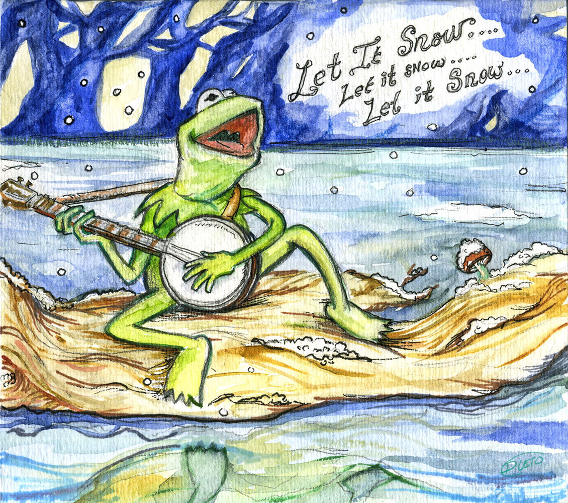 Diana Leto: Happy Christmas from Kermit The Frog
