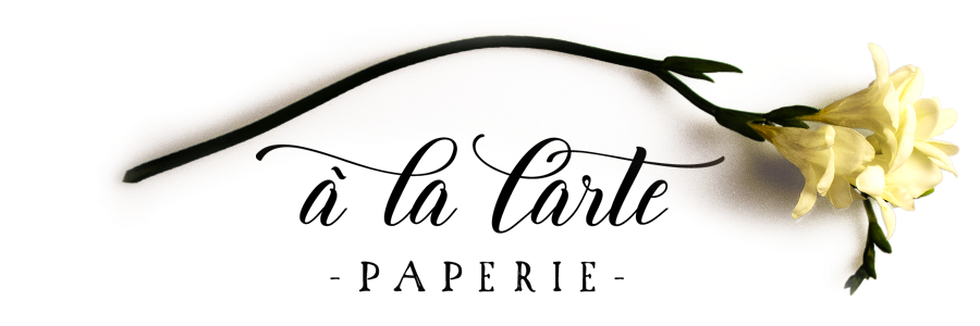 A la Carte Paperie - Wedding Invitations and more...