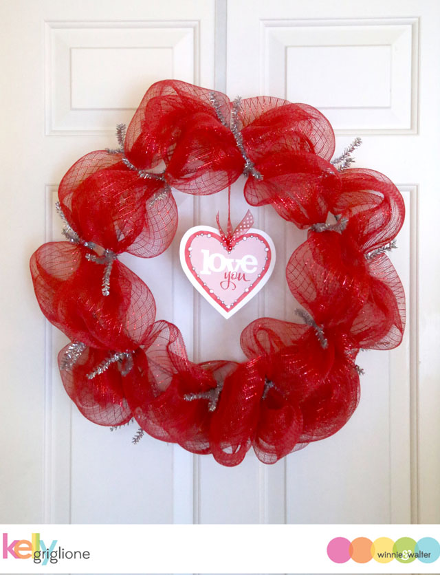 Notable Nest Papercrafting Supplies In Valentine S Day Deco Mesh Wreath